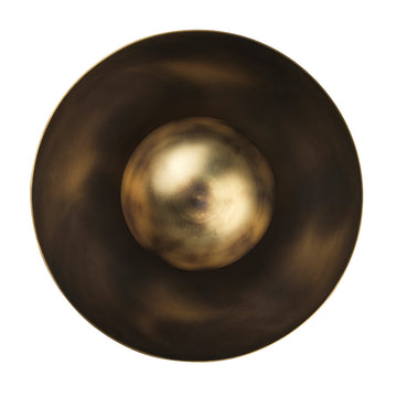 Wall light GIRASSOL solo oxidized matte brass