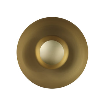 Wall light GIRASSOL solo matte polished brass shade + polished button brass