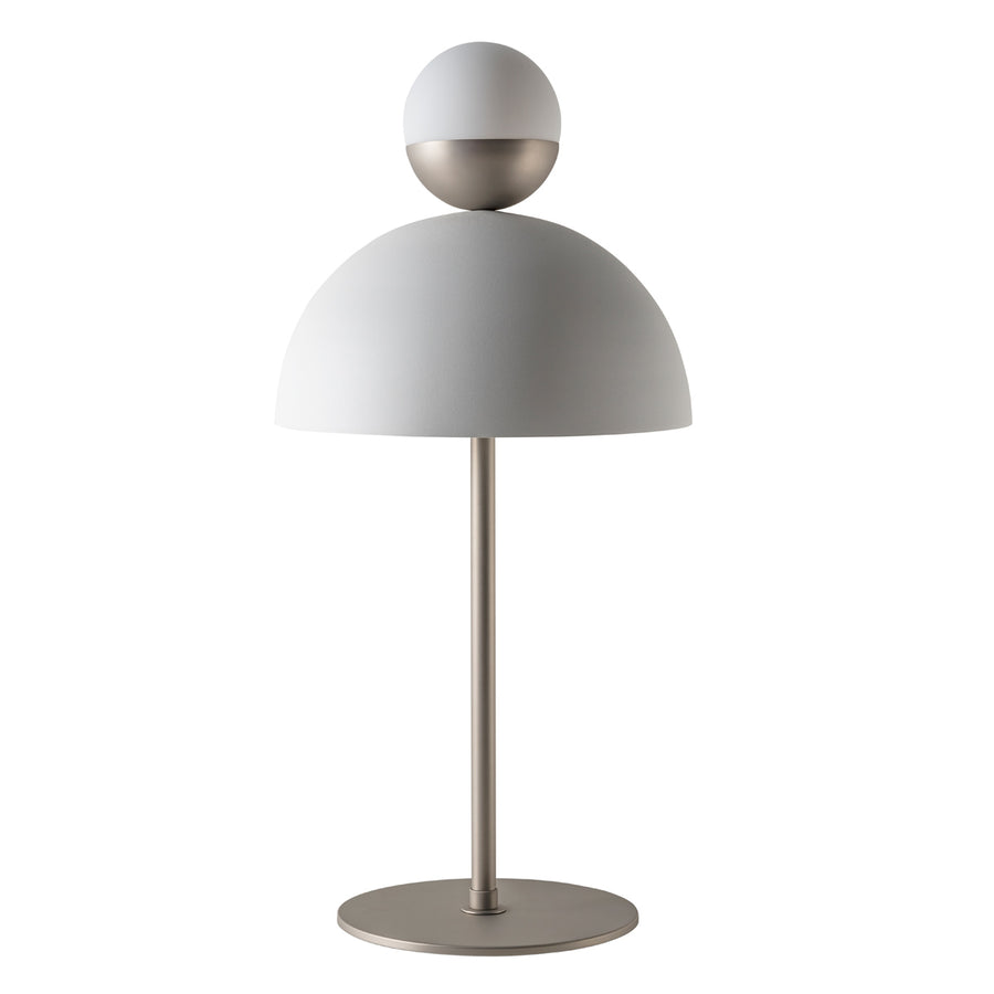 GUARDA CHUVA lampshade white microtexture shade + stem and mini shade brass nickel matte