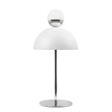 Lampshade GUARDA CHUVA white micortexture shade + chrome brass mini shade and stem