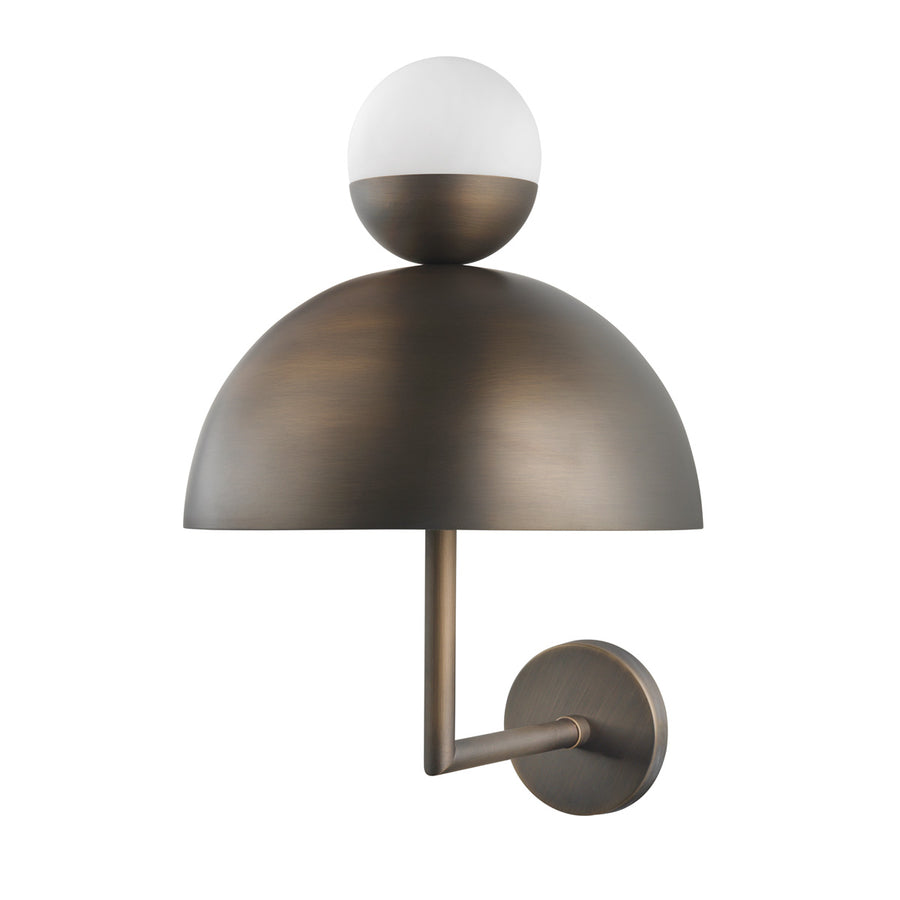 Wall light GUARDA CHUVA oxidized matte brass (grey)