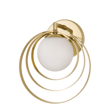 Wall light CÍRCULO 01 polished brass globe