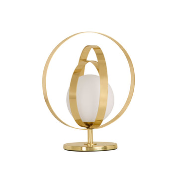 Lampshade CÍRCULO low 01 polished brass globe
