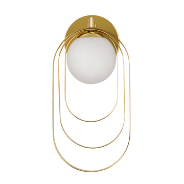 Wall light ELIPSE 01 polished brass globe