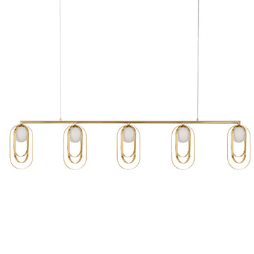 Pendant ELIPSE polished brass 05 globes