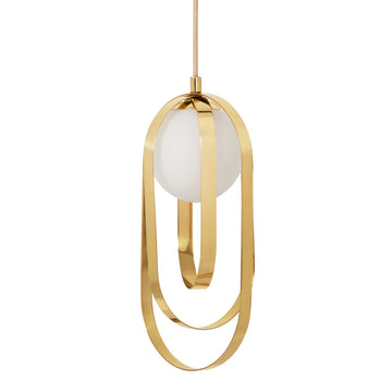 Pendant ELIPSE polished brass solo