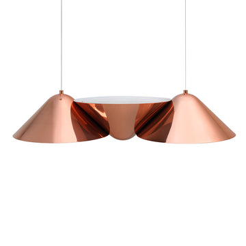 Pendant INVERSA 03 polished copper shades