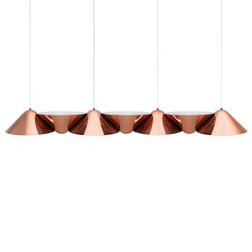 Pendant INVERSA 7 polished copper shades