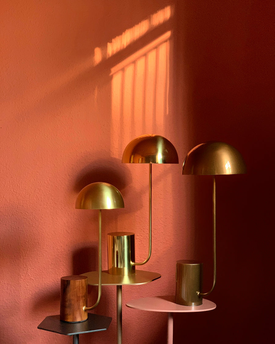 Lampshade COGUMELO M all shine brushed brass
