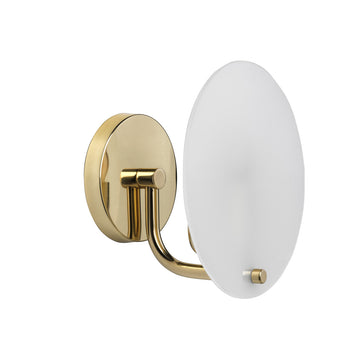 Wall light PILEA polished brass and acrylic