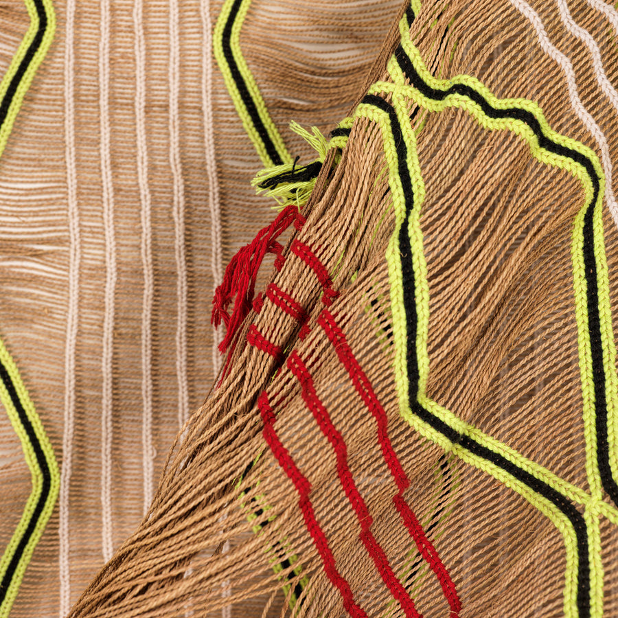 Palm fiber net from mehinako tribe, Xingu
