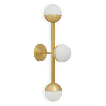 Wall light 03 JABUTICABA brushed matte brass globes