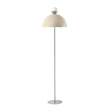 Column GUARDA CHUVA white microtexture shade + mini polished brass shade and stem