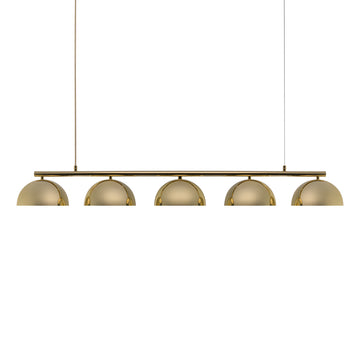 Pendant OCA linear 05 polished brass shades