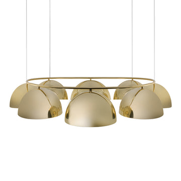 Pendant OCA circular 08 polished brass M shades