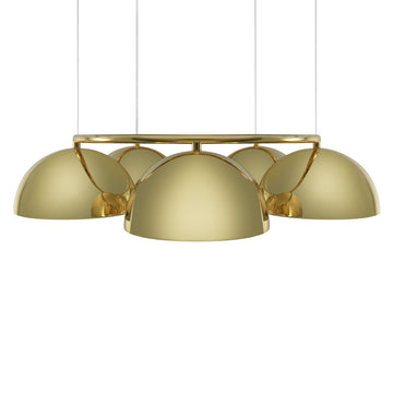 Pendant OCA circular 05 polished brass shades