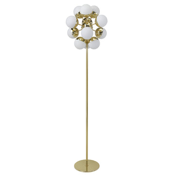 Column SPUTNIK high 12 polished brass globes