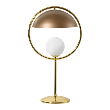 Lampshade TAO shine brushed brass circle and stem + old gold microtexture