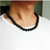 Black Necklace Volcanic Lava Stone Choker