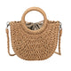 Woven Handbag Wooden Handle Large Bag