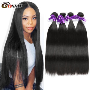 Straight Hair Bundles Brazilian Hair Weave Bundles 100% Human Hair Bundles Gossip Remy Hair Weave 1/3/4 Bundles Hair Extension