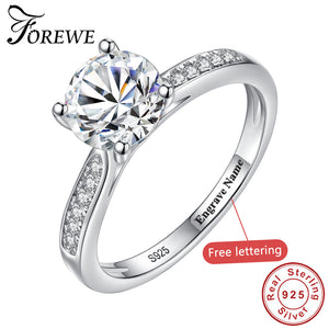 FOREWE 2019 Luxury Cubic Zirconia Ring for Women 925 Sterling Silver Finger Rings Female Wedding Engagement Jewelry Accessories
