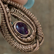 Load image into Gallery viewer, Mini Heady Wire Weave Amethyst Pendant