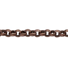 Load image into Gallery viewer, 2.7 mm Oxidized Rolo Chain
