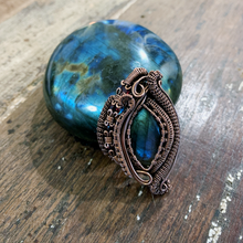 Load image into Gallery viewer, Labradorite & Garnets Heady Pendant