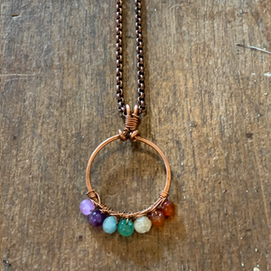 Natural Gemstone Chakra Necklace