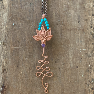 Unalome with Lotus Necklace