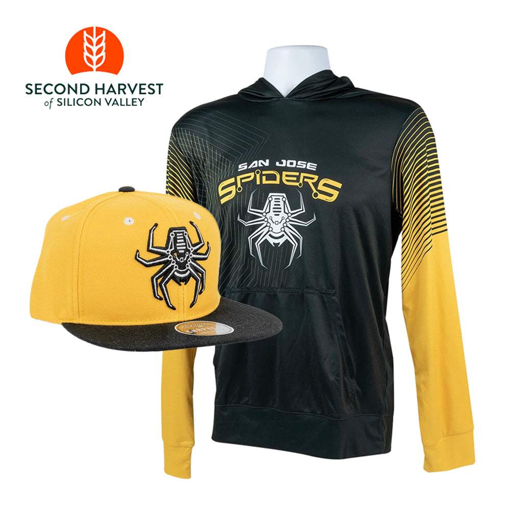 Spiders Sun Hoodie and Hat + Donation to Second Harvest