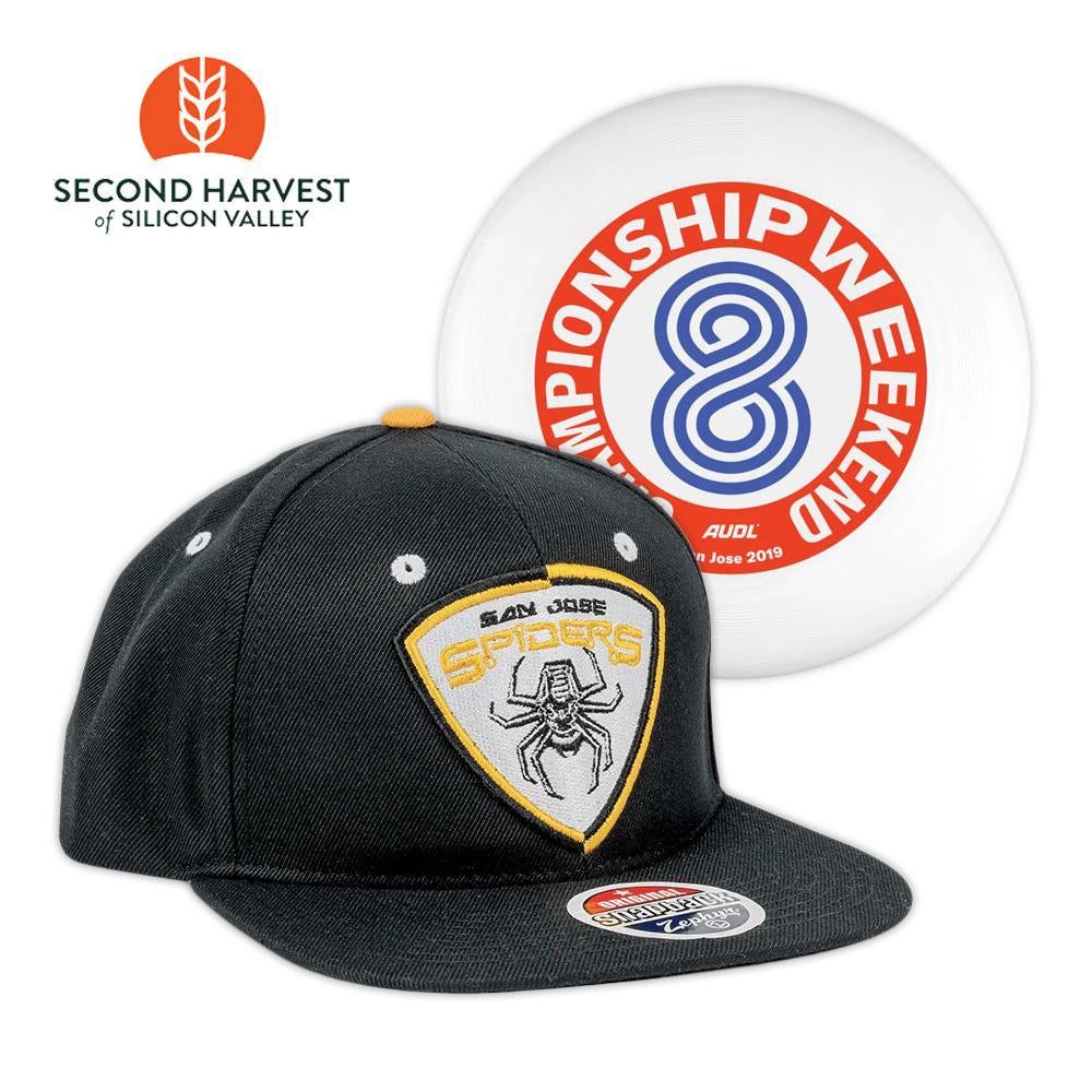 Spider Snapback Hat and Disc + Donation to Second Harvest