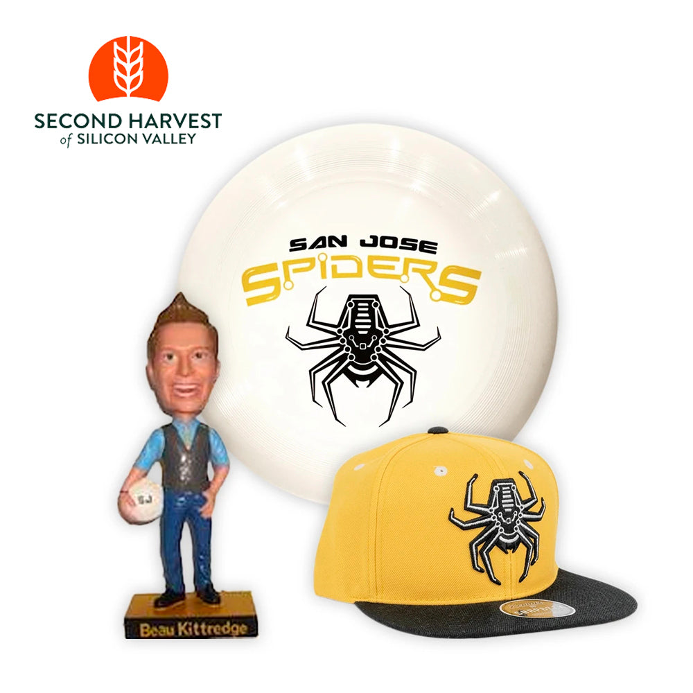 Spiders Disc, Hat and Bobble Head  + Donation to Second Harvest