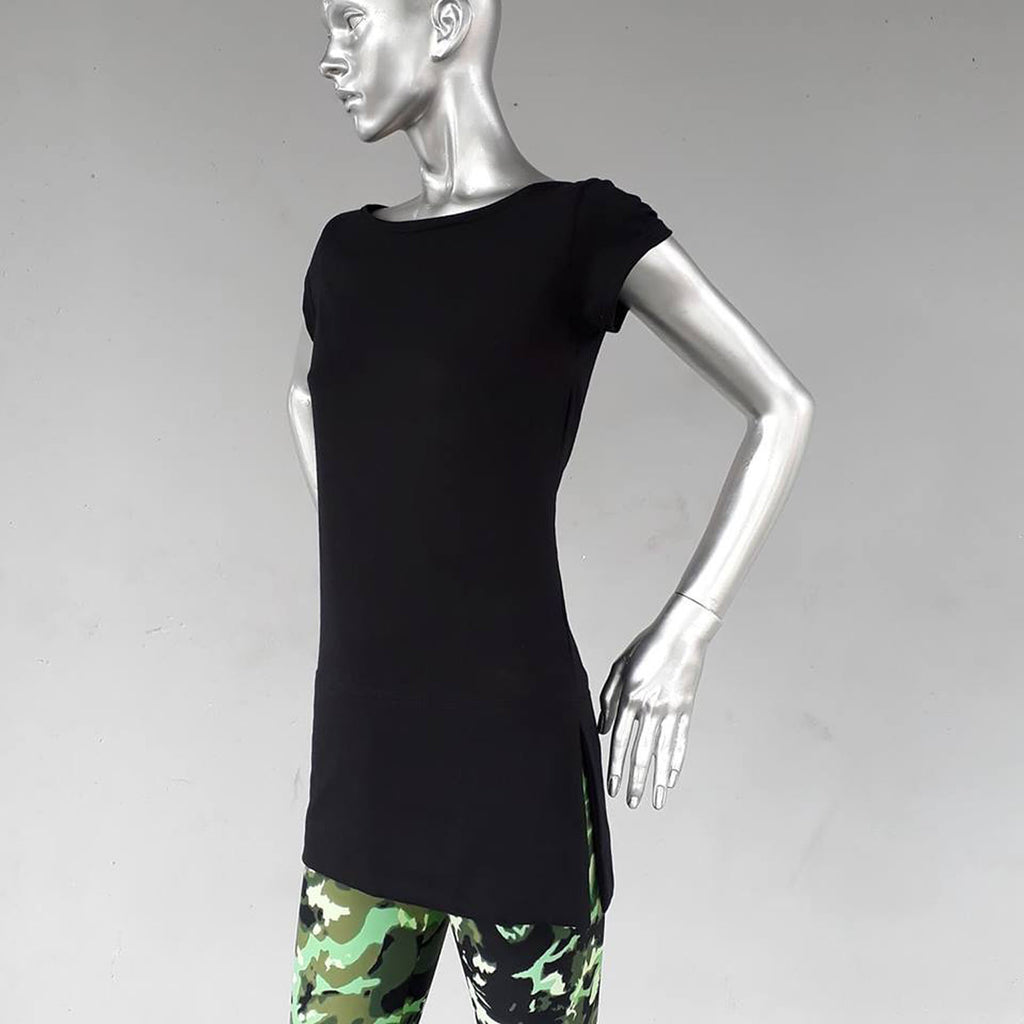 306CL Cap Sleeve T, with slit detail