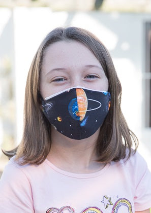405 TYPE 2 Face mask - Planets, Kids(S), Adults Med & Large