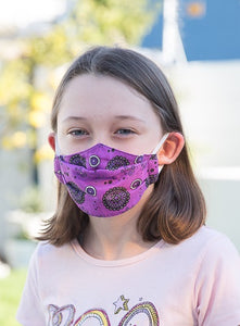 402 TYPE 1 Face mask - New Purple, Kids(S) & Adult Med