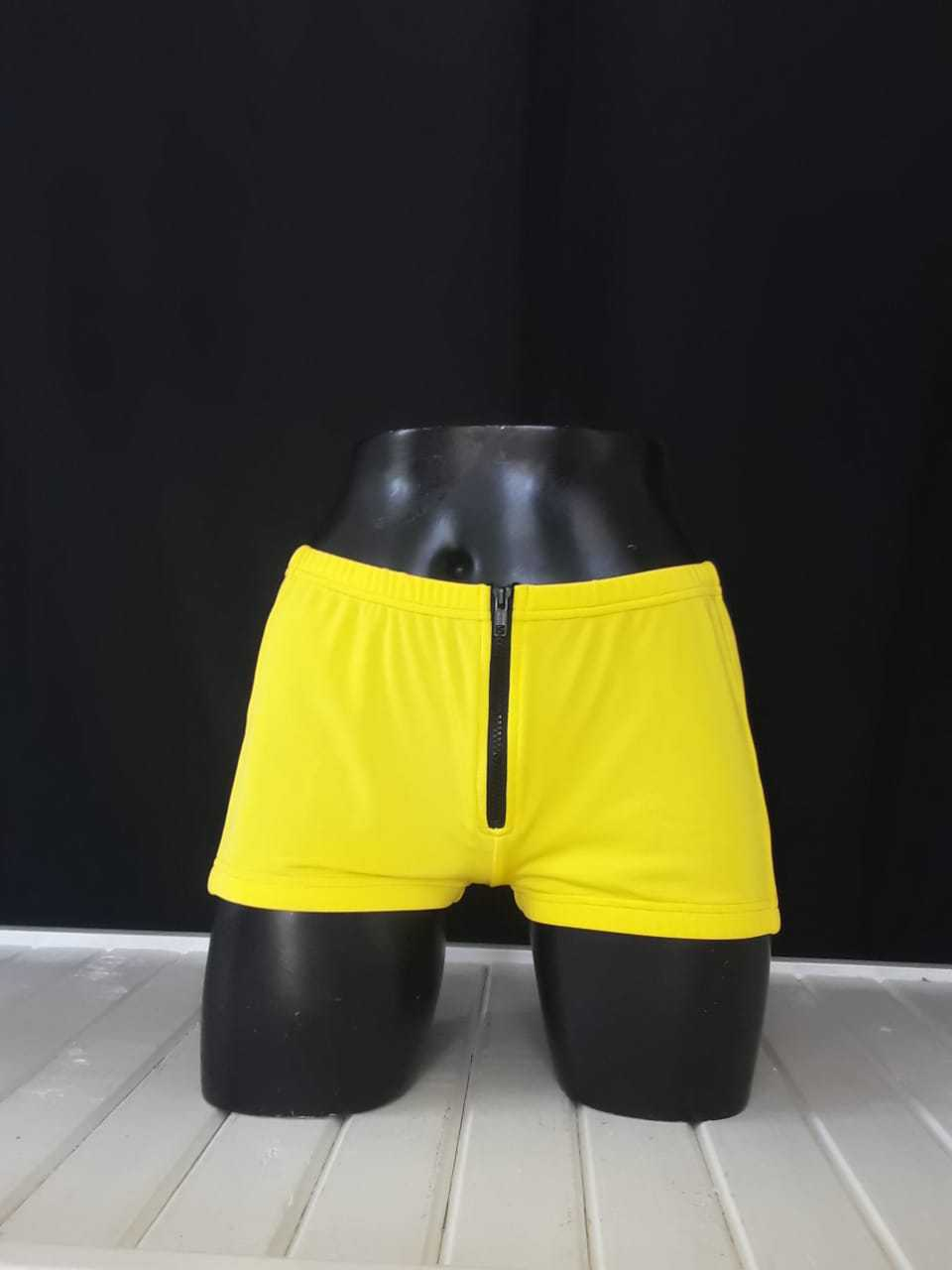 Zip Hotpants, Yellow, Size 36