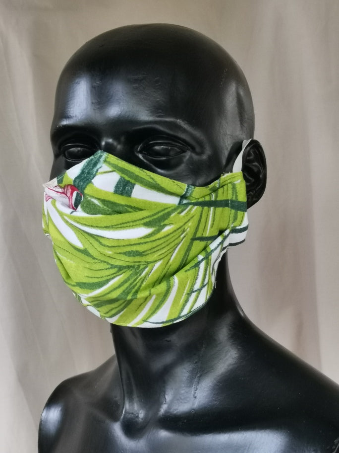 402 TYPE 1 Face mask - Palm Leaves, Adult Med Only