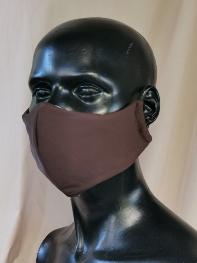 407 TYPE 3 Lycra Face mask - Brown, Kids(S), Adult Med & Large