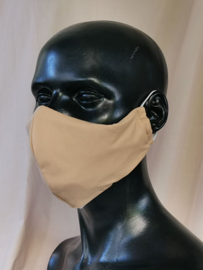 407 TYPE 3 Lycra Face mask - Nude Kids(S), Adult Med & Large
