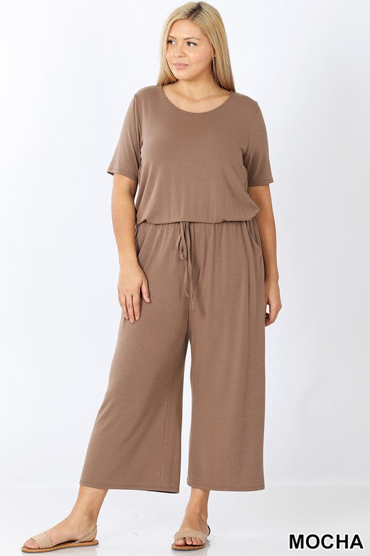 Capri Jumpsuit with Pocket