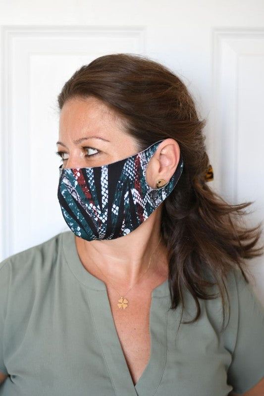 Red Green Reptile Fashion Mask
