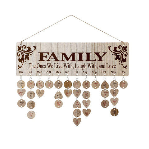 DIY Wood Calendar Board family