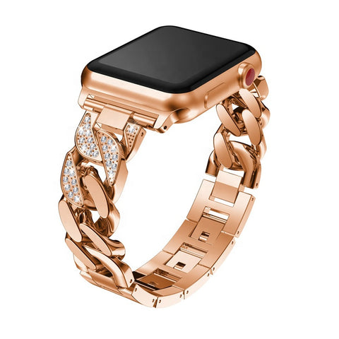 apple watch band Metal Luxury Chain Bracelet Diamond