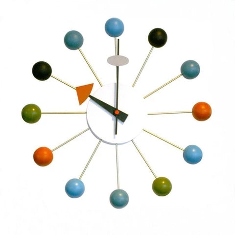 wall clock made of wood colored