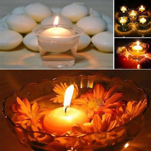 10Pcs/lot Floating Candles Romantic Round Water Disc Wedding Party Home Decoration #2