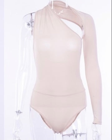 APRICOT ELLA ONE SHOULDER BODYSUIT
