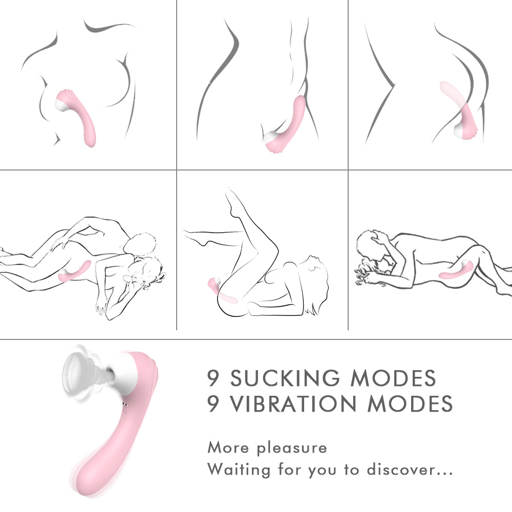 S-hande Clit Sucking Vibrator 9 Speeds for Women