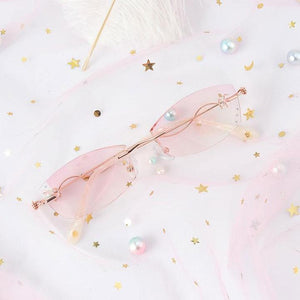 2020 fashionable ladies pink reading glasses